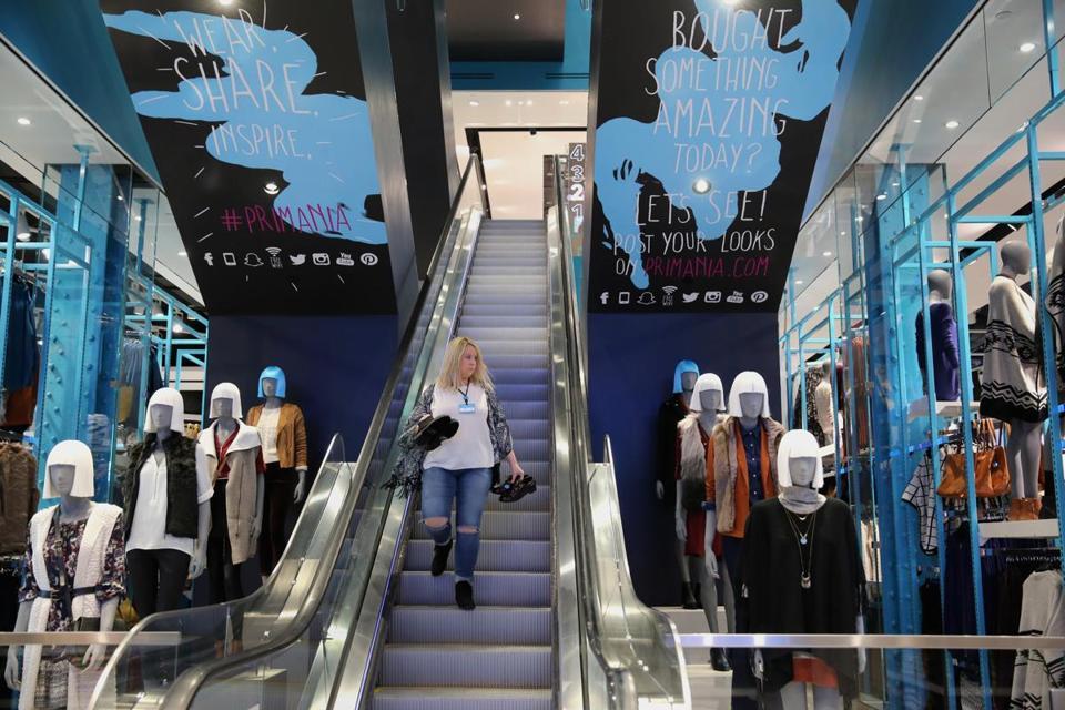 Boston, MA 090815 First floor of Primark store at Downtown Crossing, Tuesday, September 8 2015. (Globe Staff/Wendy Maeda) section: Business slug: 09primark reporter: Taryn Luna
